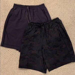 2 Lululemon Pace Breaker Shorts Lined Medium